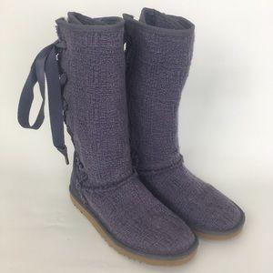 UGG Australia Heirloom Lace up boots lavender